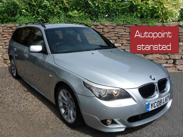 2008 08 BMW 5 SERIES 525D M SPORT DIESEL ESTATE, AUTOMATIC