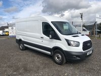 2018 FORD TRANSIT 350 L3 H2 2.0 130 LWB MEDIUM ROOF (FWD) PANEL VAN £13695.00