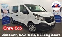 USED 2018 18 RENAULT TRAFIC 1.6 DCi SL27 BUSINESS CREW CAB (6 SEATS) 120 BHP in White with Bluetooth, Twin Sliding Doors, DAB Radio, Electric Pack, EURO 6 (ULEZ Charge exempt in London) and more ** Drive Away Today** Over The Phone Low Rate Finance Available, Just Call us on 01709 866668 **