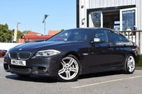 USED 2013 13 BMW 5 SERIES 2.0 520D M SPORT 4d AUTO 181 BHP HUGE SPEC+ HEADS UP DISPLAY, MOTOR VILLAGE ARE PROUD TO PRESENT OUR BMW 520D WITH ITS UNIQUE LOOK, THIS CAR BOASTS HEADS UP DISPLAY, SERVICE HISTORY, WIDE SCREEN, DAB RADIO, THIS CAR REALLY IS A PLEASURE TO DRIVE, CALL US NOW TO BOOK A TEST DRIVE