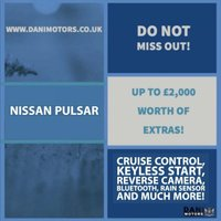 USED 2015 65 NISSAN PULSAR 1.2 DIG-T Tekna XTRON (s/s) 5dr EU5 1 OWNER*REV CAMERA*BLUETOOTH