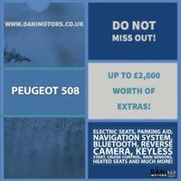 USED 2015 65 PEUGEOT 508 2.0 BlueHDi Allure (s/s) 4dr 1 OWNER*SATNAV*REV CAMERA