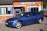 USED 2015 15 BMW 3 SERIES 2.0 320D XDRIVE M SPORT TOURING 5d AUTO 181 BHP 2 OWNERS FULL BMW SERVICE HISTORY, NAVIGATION, LEATHER!