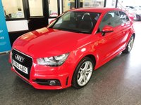 USED 2013 63 AUDI A1 1.2 TFSI S LINE 3d 84 BHP Two owners- last lady since 2016. Full Audi digital service record- 5 visits, March 2020 advisory free Mot. Finished in Misano Red Pearl with Black cloth seats.