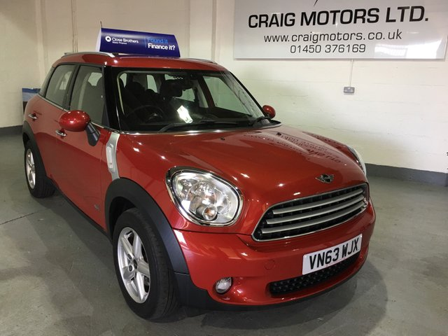 2014 63 MINI COUNTRYMAN 1.6L COOPER D ALL4 5d 112 BHP