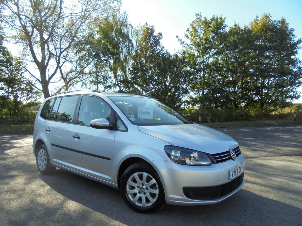 USED 2012 12 VOLKSWAGEN TOURAN 1.6 S TDI BLUEMOTION TECHNOLOGY 5d 103 BHP