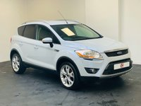 USED 2010 60 FORD KUGA 2.0 TITANIUM TDCI AWD 5d 163 BHP WHITE WITH PRIVACY WINDOWS + FINANCE AND PART EX WELCOME