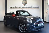 """USED 2016 16 MINI CONVERTIBLE 2.0 JOHN COOPER WORKS 2DR 228 BHP full service history Finished in a stunning thunder metallic grey styled with 18""""alloys. Upon opening the drivers door you are presented with half leather interior, full service history, bluetooth, heated seats, rear-view camera, MINI Excitement package, Cruise control with brake function, LED headlights, dab radio, chili pack, MINI Visual Boost, auto air con, rain sensors, parking sensors"""
