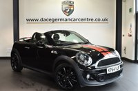"USED 2015 64 MINI ROADSTER 2.0 COOPER SD 2DR 141 BHP Finished in a stunning midnight metallic black styled with 17"" alloys. Upon opening the drivers door you are presented with half leather, bluetooth, xenon lights, LED Fog lights, dab radio, Headlight cleaning system,  Sports seats, Automatic air conditioning, rain sensors, parking sensors"