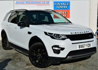 USED 2017 67 LAND ROVER DISCOVERY SPORT 2.0 TD4 HSE BLACK EDITION 5d Family 7 Seat SUV 4x4 AUTO Absolutely Stunning in White with Black Roof Black Alloys Tinted Privacy Glass Black Pack Side Steps with Massive High Spec inc Panoramic Glass Roof Sat Nav Heated Leather Seats Ft and Rr Parking Sensors Rear Camera Auto Braking Lane Assist Recent Service MOT Ready to Finance and Drive Away Today MASSES OF HIGH SPEC