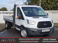 USED 2015 65 FORD TRANSIT DROPSIDE 2.2 350 125 BHP *OVER 85 VANS IN STOCK*