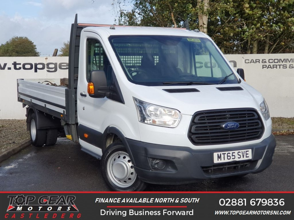 USED 2015 65 FORD TRANSIT 350 2.2 125 BHP ALLOY DROPSIDE**OVER 85 VANS IN STOCK**