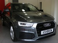 USED 2015 15 AUDI Q3 2.0 TDI QUATTRO S LINE PLUS 5d AUTO 150 S/S UPGRADE HEATED FRONT SEATS, SAT NAV, BLACK LEATHER ALCANTARA INTERIOR, PARKING SYSTEM FRONT & REAR WITH DISPLAY, CRUISE CONTROL, ELECTRIC HEATED POWER FOLDING DOOR MIRRORS, DAB RADIO, BLUETOOTH PHONE & MUSIC STREAMING, ELECTRIC TAILGATE, AUDI DRIVE SELECT, QUATTRO 4 WHEEL DRIVE, 19 INCH 5 SEGMENT SPOKE ALLOYS, LED XENON LIGHTS, PRIVACY GLASS,  LEATHER MULTIFUNCTION TIPTRONIC STEERING WHEEL (PADDLE SHIFT), AUTO LIGHTS & WIPERS, AUTO DIMMING REAR VIEW MIRROR, AUDI MUSIC INTERFACE, 1 OWNER FROM NEW