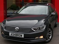 USED 2016 16 VOLKSWAGEN PASSAT ESTATE 2.0 TDI GT BLUEMOTION TECH 5d 150 S/S PANORAMIC SUN ROOF (PAN ROOF), VIRTUAL COCKPIT (DIGITAL DASH), SAT NAV, DAB RADIO, HEATED FRONT SEATS, BLUETOOTH PHONE & MUSIC STREAMING, FRONT & REAR PARKING SENSORS WITH DISPLAY (PARK PILOT), PRIVACY GLASS, TOW BAR FITTED, LEATHER FLAT BOTTOM MULTIFUNCTION STEERING WHEEL, KEYLESS START, DRIVING MODE SELECT, DUAL CLIMATE AIR CON, AUTO LIGHTS & WIPERS, ELECTRIC HEATED FOLDING DOOR MIRRORS, AUTO HILL HOLD, AUX & USB INPUTS, FULL SERVICE HISTORY, 1 OWNER, £20 ROAD TAX, VAT Q