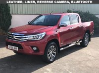 USED 2016 66 TOYOTA HI-LUX 2.4 INVINCIBLE 4WD D-4D DCB 1d 148 BHP LEATHER, REVERSE CAMERA