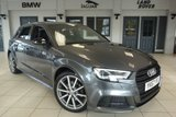 USED 2017 67 AUDI A3 1.5 TFSI BLACK EDITION 5d 148 BHP FULL AUDI SERVICE HISTORY + DAB DIGITAL RADIO + PARKING SENSORS + AUDI SOUND SYSTEM WITH 10 SPEAKERS + INTERIOR LIGHTING PACK + 3 SPOKE MULTIFUNCTION STEERING WHEEL + LED HEADLIGHTS + CRUISE CONTROL + AIR CONDITIONING + CLIMATE CONTROL + 18 INCH 10 SPOKE TITANIUM MATT LOOK DIAMOND CUT FINISHED ALLOY WHEELS