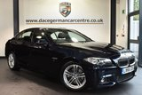 """USED 2016 66 BMW 5 SERIES 2.0 520D M SPORT 4DR 188 BHP full bmw service history - £30 road tax Finished in a stunning carbon black styled with 18"""" alloys. Upon opening the drivers door you are presented with full leather interior, full bmw service history, satellite navigation, bluetooth, heated seats, dab radio, LED Fog lights, Connected Drive Services, Headlight cleaning system, parking sensors"""