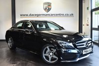 """USED 2015 64 MERCEDES-BENZ C CLASS 2.1 C220 BLUETEC AMG LINE 4DR AUTO 170 BHP superb service history - £30 road tax Finished in a stunning obsidian black styled with 18"""" alloys. Upon opening the drivers door you are presented with half leather interior, satellite navigation, £30 road tax, superb service history, bluetooth, rear-view camera, heated seats, cruise control, electric folding mirrors, active park assist, dab radio, AMG styling package, parking package, mirror package"""