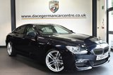 """USED 2014 64 BMW 6 SERIES GRAN COUPE 3.0 640D M SPORT 4DR AUTO 309 BHP full bmw service history Finished in a stunning carbon black styled with 20"""" alloys. Upon opening the drivers door you are presented with full leather interior, full service history, satellite navigation, bluetooth, harman/kardon surround sound, LED Fog lights, heated seats, head-up display, dab radio, Connected Drive Services, parking sensors......At Dace German Car Centre we are very proud to be named the first Stockport Trading Standards Approved Car Retailer, with process and procedures developed with and applauded"""