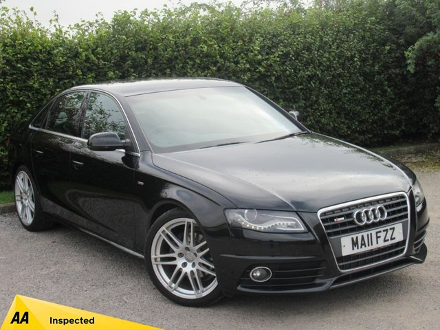 USED 2011 11 AUDI A4 2.0 TDI SE 4d AUTOMATIC * 12 MONTHS FREE AA MEMBERSHIP * FULL BLACK LEATHER * AUTOMATIC *