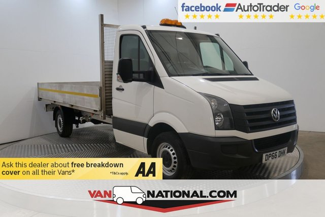 USED 2016 66 VOLKSWAGEN CRAFTER 2.0 CR35 TDI C/C 136 BHP LWB DROPSIDE (Euro 6 Aluminium Body Ulez)  * EXTENDED WARRANTIES AVAILABLE FROM JUST £199 *