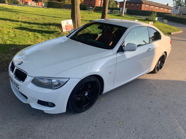USED 2010 60 BMW 3 SERIES 2.0 320I M SPORT 2d AUTO 168 BHP EXCELLENT EXAMPLE WITH SERVICE HISTORY, ALLOY WHEELS, PARK SENSORS, LEATHER INTERIOR, RADIO/CD/AUX/USB, CRUISE CONTROL, CLIMATE CONTROL
