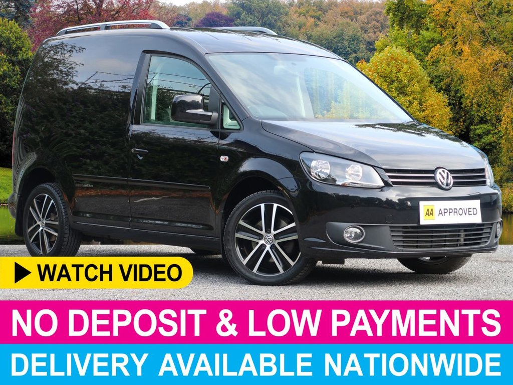 USED 2015 15 VOLKSWAGEN CADDY 1.6 TDI BLACK EDITION BLUEMOTION TECH C20 PANEL VAN LEATHER AIR CON CRUISE ALLOYS