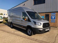 USED 2018 18 FORD TRANSIT 2.0 350 L4 H3 P/V DRW 1d 130 BHP 18 PLATE IN SILVER WITH A/C AND FRONT AND REAR SENSORS