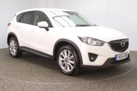 USED 2014 14 MAZDA CX-5 2.2 D SPORT NAV 5DR HEATED LEATHER SEATS 1 OWNER 173 BHP FULL SERVICE HISTORY + HEATED LEATHER SEATS + SATELLITE NAVIGATION + PARKING SENSOR + BLUETOOTH + CRUISE CONTROL + CLIMATE CONTROL + MULTI FUNCTION WHEEL  +RADIO/CD/AUX/USB + ELECTRIC WINDOWS + ELECTRIC MIRRORS + 19 INCH ALLOY WHEELS