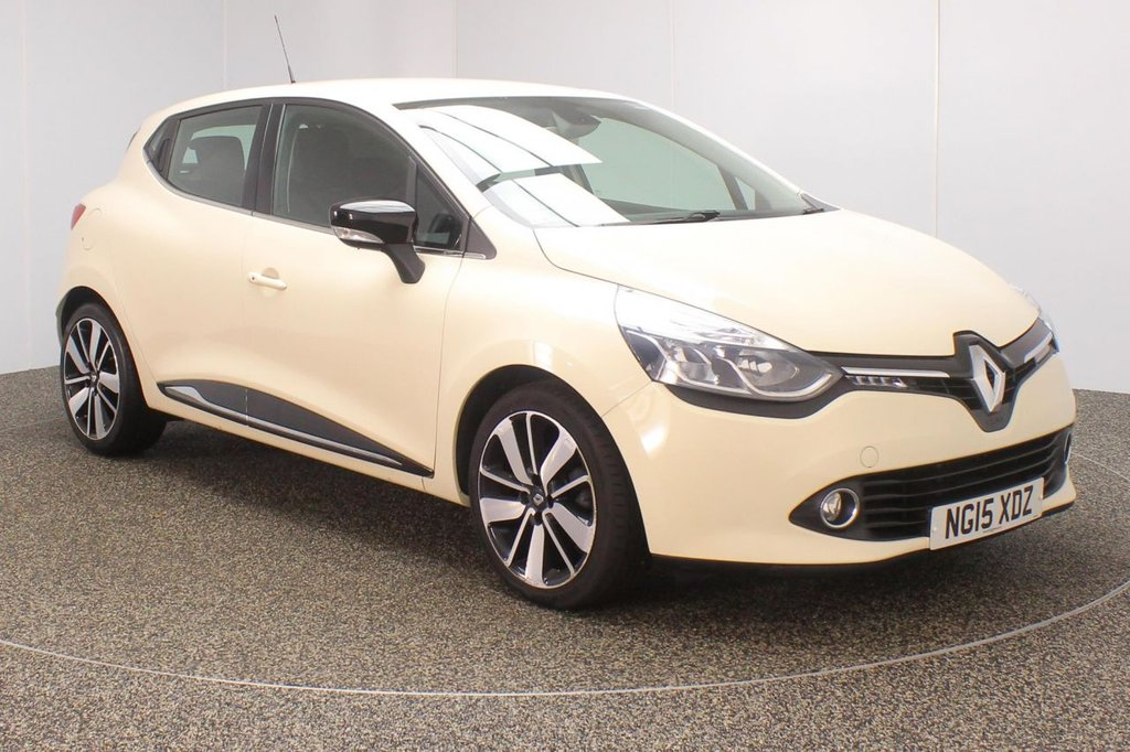USED 2015 15 RENAULT CLIO 1.5 DYNAMIQUE S NAV DCI 5DR 89 BHP SERVICE HISTORY + FREE 12 MONTHS ROAD TAX + SATELLITE NAVIGATION + PARKING SENSOR + BLUETOOTH + CRUISE CONTROL + CLIMATE CONTROL + MULTI FUNCTION WHEEL + RADIO/CD/AUX/USB + ELECTRIC WINDOWS + ELECTRIC MIRRORS + 17 INCH ALLOY WHEELS