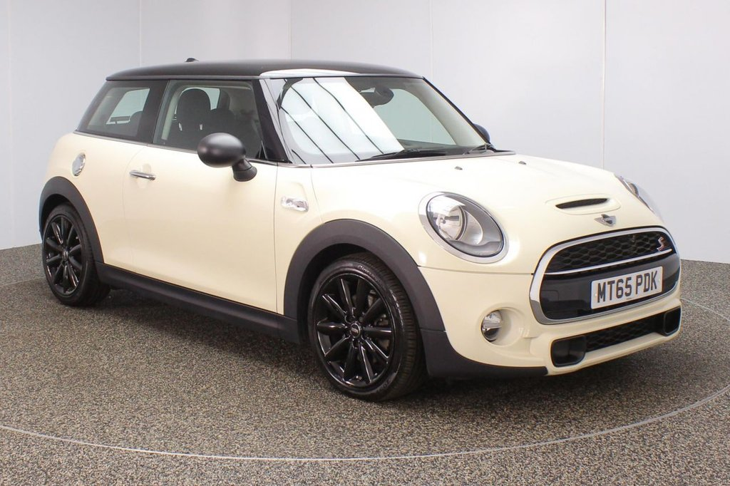 USED 2015 65 MINI HATCH COOPER 2.0 COOPER S CHILI PACK 3DR 1 OWNER 189 BHP FULL SERVICE HISTORY + HALF LEATHER SEATS + PARKING SENSOR + BLUETOOTH + CRUISE CONTROL + CLIMATE CONTROL + DAB RADIO + MULTI FUNCTION WHEEL + RADIO/CD/AUX/USB + ELECTRIC MIRRORS + ELECTRIC WINDOWS + 17 INCH ALLOY WHEELS