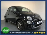 USED 2019 19 FIAT 500 1.2 S 3d 69 BHP FULL SERVICE HISTORY - 1 OWNER - REAR SENSORS - HALF LEATHER - AIR CON - BLUETOOTH - DAB RADIO - CRUISE