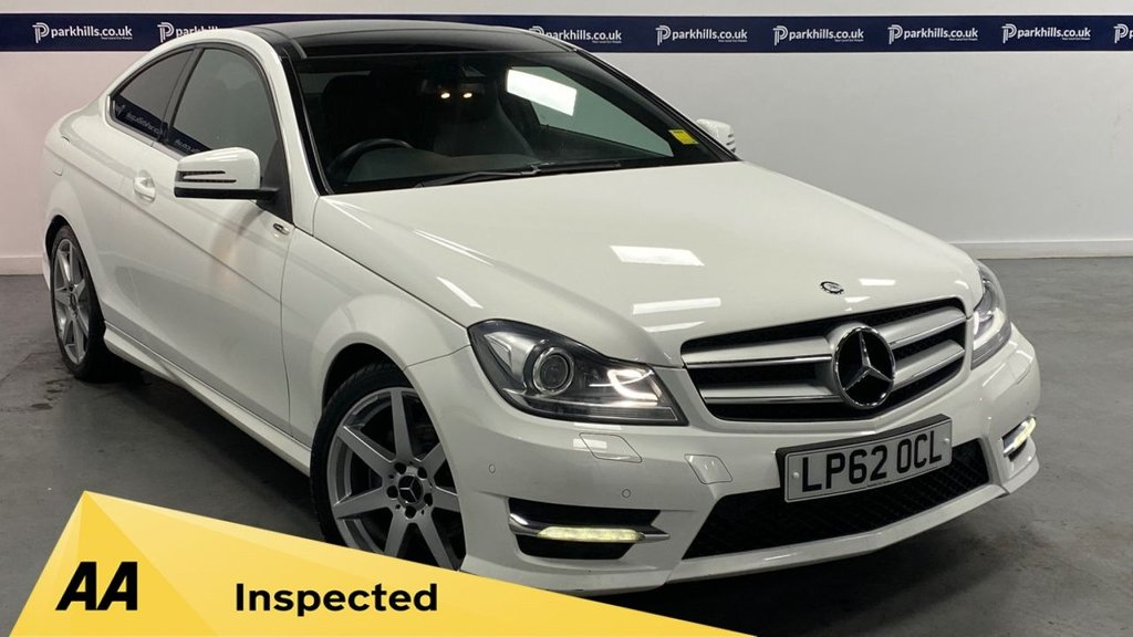 USED 2013 62 MERCEDES-BENZ C CLASS 2.1 C220 CDI BLUEEFFICIENCY AMG SPORT 2d 170 BHP (PANORAMIC ROOF)