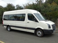 USED 2008 57 VOLKSWAGEN CRAFTER CR50 2.5TDI 108 BHP TWIN WHEEL LWB 16 SEATER DISABLED PASSENGER MINI BUS +RICON ELECTRIC LIFT+C,O,I,F