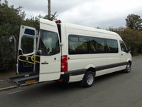 2008 VOLKSWAGEN CRAFTER CR50 2.5TDI 108 BHP TWIN WHEEL LWB 16 SEATER DISABLED PASSENGER MINI BUS £8750.00