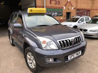 USED 2007 57 TOYOTA LAND CRUISER 3.0 D-4D LC4 8 STR 5d AUTO 171 BHP