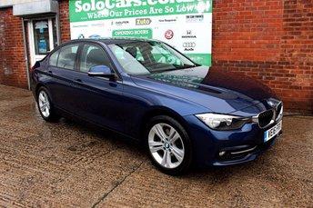 2016 BMW 3 SERIES 2.0 330E SPORT 4d AUTO 181 BHP £15299.00