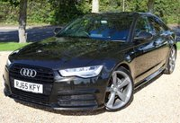 """USED 2015 65 AUDI A6 2.0 TDI ULTRA BLACK EDITION 4d AUTO 188 BHP/ SAT NAV/ PRIVACY GLASS ABSOLUTELY STUNNING LOOKING & MINT CONDITION AUDI A6 2.0 TDI ULTRA BLACK EDITION S-T AUTOMATIC COMES WITH MANY EXTRAS/ SAT NAV/ LED LIGHTS/ CRUISE CONTROL/ PARKING SENSORS/ CRUISE CONTROL/ S LINE PACKAGE/ LEATHER SEATS/ BLACK EDITION/ MEDIA SCREEN/ WITH SERVICE HISTORY/ NEW SERVICE/ 1 YEAR NEW MOT/ ROAD TAX £30,- / 2 KEYS/ WARRANTY/ HPI CLEARED/  BOOK A TEST DRIVE TODAY!  APPLY FOR A CAR FINANCE ON OUR WEBSITE PAGE """"FINANCE""""."""