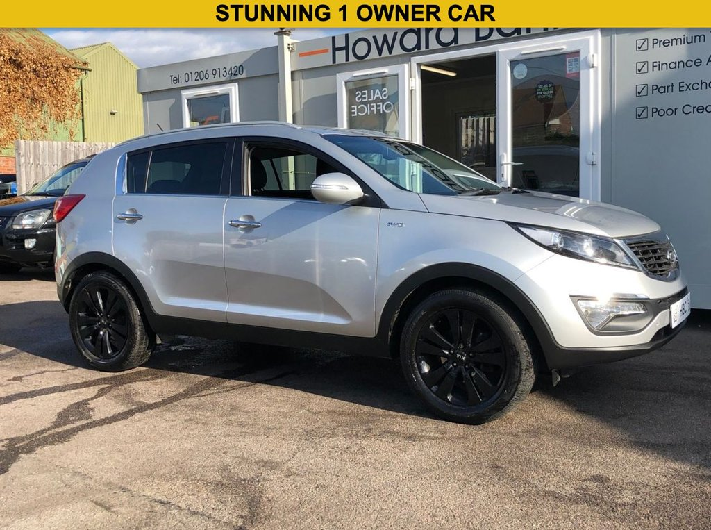 USED 2010 60 KIA SPORTAGE 2.0 FIRST EDITION 5d 160 BHP HEATED LEATHER FRONT & REAR + REVERSE CAMERA + SENSORS + AWD