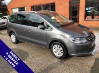 """USED 2016 16 VOLKSWAGEN SHARAN 2.0 SE TDI BLUEMOTION TECHNOLOGY 5DOOR 148 BHP DAB Radio        :        USB & AUX Socket        :        Family 7-Seater        :        Cruise Control      Bluetooth Connectivity     :     Climate Control / Air Con     :     Front & Rear Parking Sensors      16"""" Alloy Wheels   :   Silver Roof Rails   :   2 Keys"""
