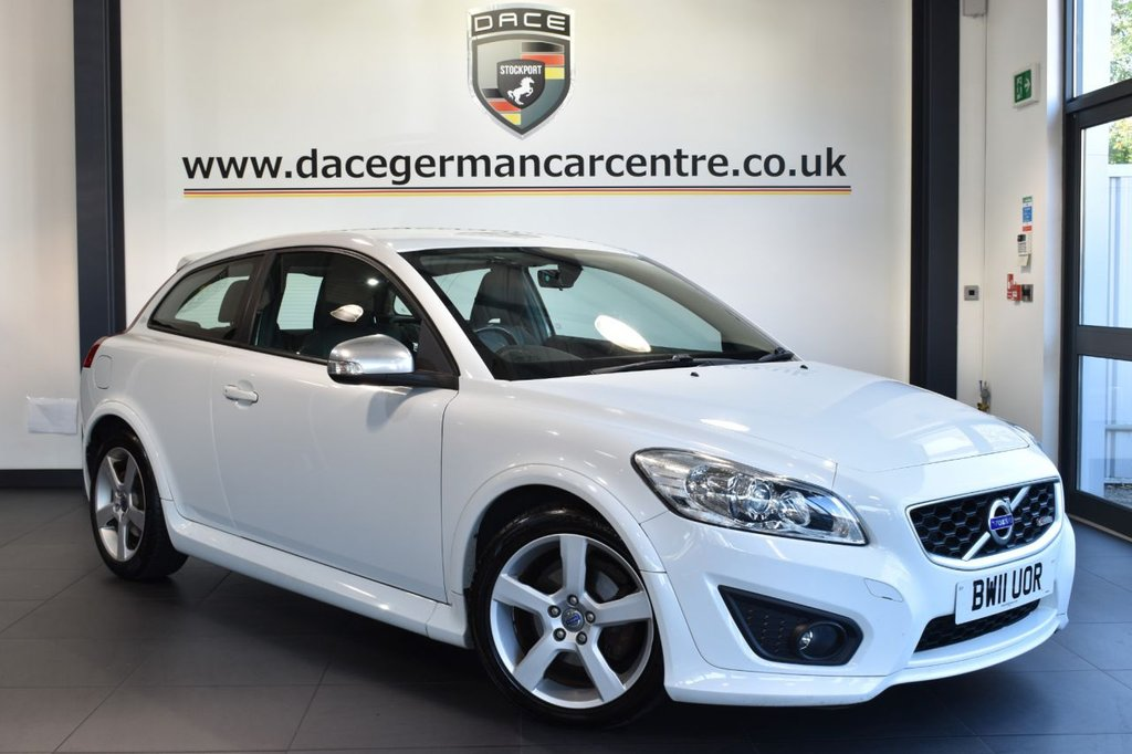 """USED 2011 11 VOLVO C30 2.0 R-DESIGN 3DR 145 BHP full service history Finished in a stunning white styled with 17"""" alloys. Upon opening the drivers door you are presented with full leather interior, full service history, bluetooth, cruise control, heated seats, air conditioning, electric mirrors"""
