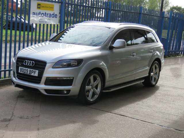 USED 2009 09 AUDI Q7 3.0 TDI Quattro S Line 5dr Auto Sat nav 7 Seats Privacy Side steps 7 Seater,Automatic,Leather Interior,History