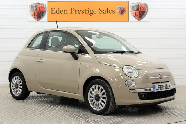 USED 2015 65 FIAT 500 0.9 TwinAir Pop Star Dualogic (s/s) 3dr LEATHER*A/C*APPLE/ANDROID*DAB