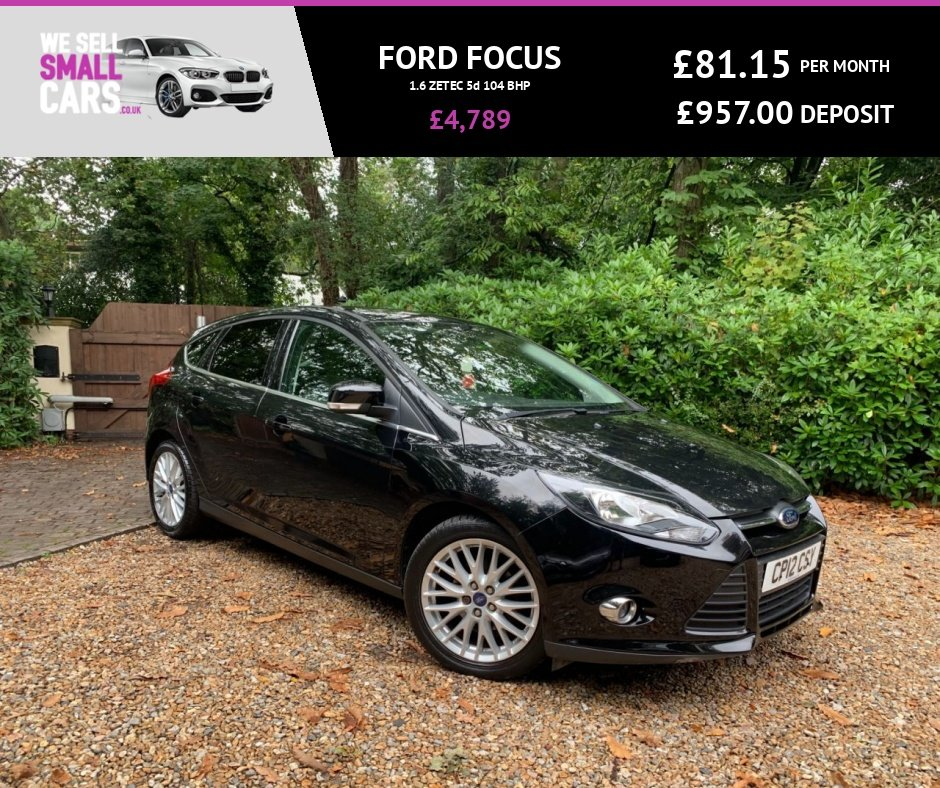 USED 2012 12 FORD FOCUS 1.6 ZETEC 5d 104 BHP 2 OWNERS FULL SERVICE HISTORY 17 INCH ALLOYS AIR CON STUNNING THROUGHOUT