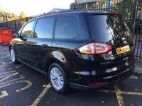 "USED 2016 66 FORD GALAXY 2.0 ZETEC TDCI 5d AUTO 148 BHP STUNNING SHADOW BLACK METALLIC PAINT WITH LUXURY BLACK CLOTH UPHOLSTERY. ONLY 1 OWNER FROM NEW. FULL SERVICE HISTORY. FORD SYNC ""3"" WITH 8"" COLOUR SCREEN. 7 SEATER. DAB RADIO. BLUETOOTH. FRONT AND REAR PARKING SENSORS. PRIVACY GLASS. AIR CONDITIONING. ELECTRIC WINDOWS. REMOTE CENTRAL LOCKING. ALLOY WHEELS. PLEASE GOTO www.lowcostmotorcompany.co.uk TO VIEW OVER 120 CARS IN STOCK."