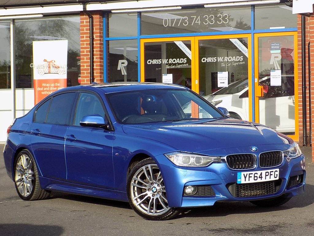 """USED 2014 64 BMW 3 SERIES 2.0 320d M Sport 4dr (Nav) **Electric Sunroof + 19"""" Alloys**"""