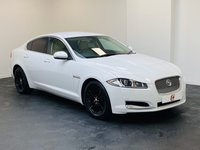 USED 2011 61 JAGUAR XF 2.2 D LUXURY 4d 190 BHP LOW MILES + SERVICE HISTORY + WHITE + BLACK ALLOYS