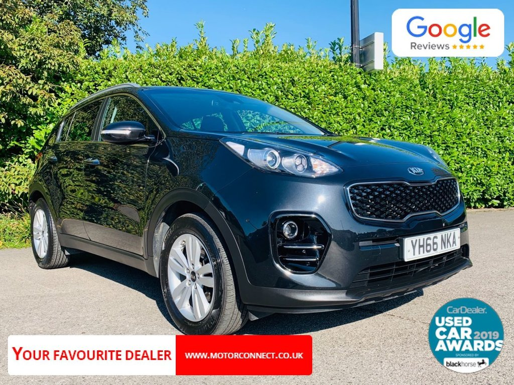 USED 2016 66 KIA SPORTAGE 1.7 CRDI 2 ISG 5d 114 BHP One Owner From New, Full Main Dealer Service History, Balance Of Main Dealer Warranty, £30 Tax, Sat Nav, Bluetooth, Reverse Camera, Rear Parking Sensors, Drive Away In Under 1 Hour