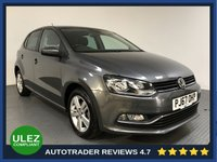 USED 2017 67 VOLKSWAGEN POLO 1.0 MATCH EDITION 5d 74 BHP FULL VW HISTORY - 1 OWNER - PARKING SENSORS - AIR CON - BLUETOOTH - DAB RADIO - CRUISE - PRIVACY