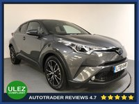 USED 2018 18 TOYOTA CHR 1.8 EXCEL 5d AUTO 122 BHP FULL TOYOTA HISTORY - 1 OWNER - SAT NAV - PARKING SENSORS - CAMERA - AIR CON - BLUETOOTH - DAB RADIO - CRUISE
